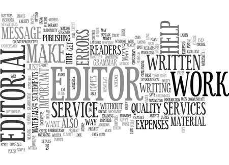 WHY ARE EDITORIAL SERVICES IMPORTANT TEXT WORD CLOUD CONCEPT 向量圖像