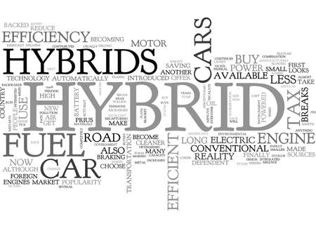 WHY BUY A HYBRID CAR TEXT WORD CLOUD CONCEPT