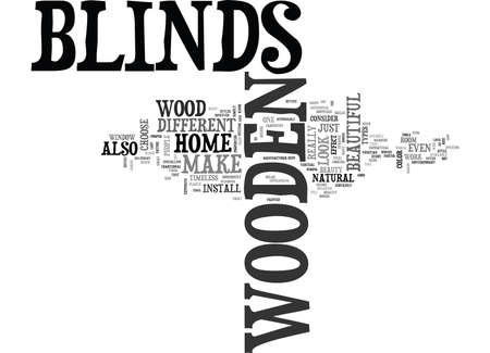 WHY CHOOSE WOODEN BLINDS TEXT WORD CLOUD CONCEPT