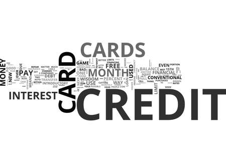 WHY CREDIT CARDS ARE GOOD TEXT WORD CLOUD CONCEPT