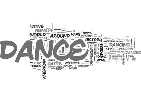WHY DANCE TEXT WORD CLOUD CONCEPT