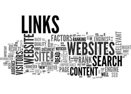 WHY DATED CONTENT AND DEAD LINKS WILL PUNISH YOUR SITE TEXT WORD CLOUD CONCEPT