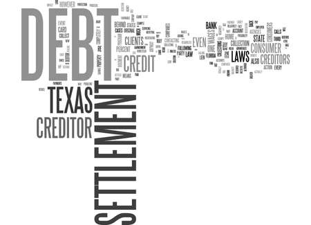 WHY DEBT SETTLEMENT WORKS BEST IN TEXAS TEXT WORD CLOUD CONCEPT