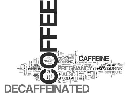 WHY DECAFFEINATED COFFEE WAS INTRODUCED TEXT WORD CLOUD CONCEPT Vettoriali