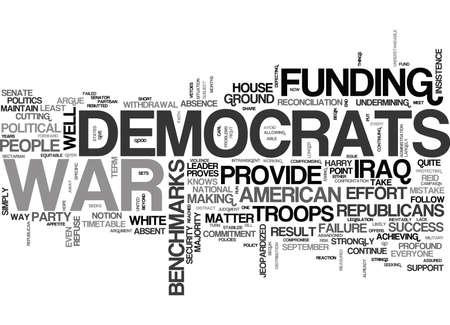 민주당 원이 왜 전쟁 텍스트 단어 구름 개념에 돈을 지불해야하는지 일러스트