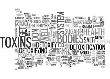 starvation: WHY DETOXIFY TEXT WORD CLOUD CONCEPT