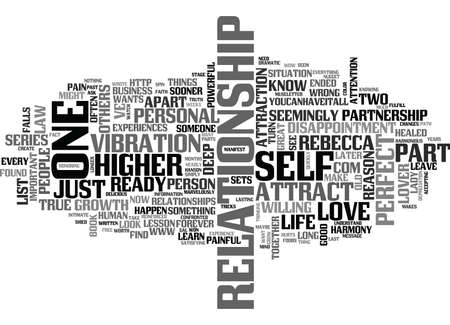 WHY DID MY PERFECT PARTNER LEAVE ME PART TWO OF A TWO PART SERIES TEXT WORD CLOUD CONCEPT Illustration