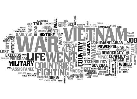 WHY DID WE LOSE THE VIETNAM WAR TEXT WORD CLOUD CONCEPT