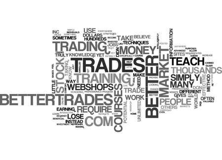 BETTER TRADES TEXT WORD CLOUD CONCEPT