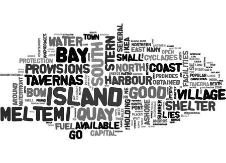YACHT CHARTER IN THE NORTHERN CYCLADES TEXT WORD CLOUD CONCEPT