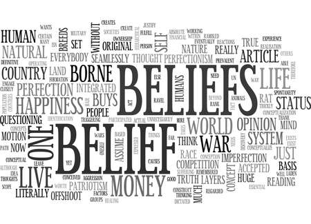 slog: WE LIVE IN A SYSTEM OF BELIEFS TEXT WORD CLOUD CONCEPT