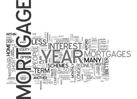 mentioned: YEAR MORTGAGE TEXT WORD CLOUD CONCEPT Illustration
