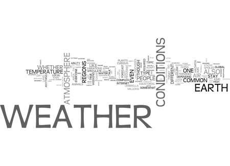 기상 예보는 기상 조건에 근거하여 주로 수행됩니다. 텍스트 단어 구름 개념
