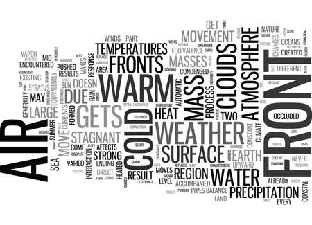 encounters: WEATHER FRONTS ARE A FACTOR OF AIR MOVEMENT TEXT WORD CLOUD CONCEPT