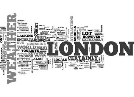 WEATHER IN LONDON TEXT WORD CLOUD CONCEPT Illustration