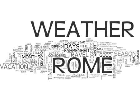 WEER IN ROME TEXT WORD CLOUD CONCEPT