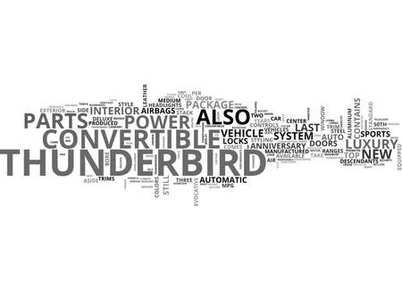 thunderbird: YEARS OF POWER TEXT WORD CLOUD CONCEPT