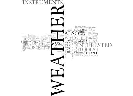 able to learn: WEATHER INSTRUMENTS THE TOOLS YOU NEED TEXT WORD CLOUD CONCEPT Illustration