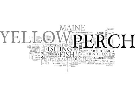 YELLOW PERCH TEXT WORD CLOUD CONCEPT