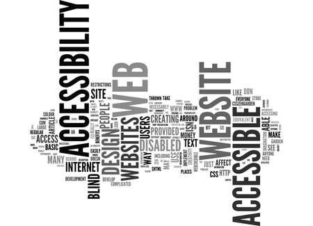 WEB ACCESSIBILITY MYTHS TEXT WORD CLOUD CONCEPT