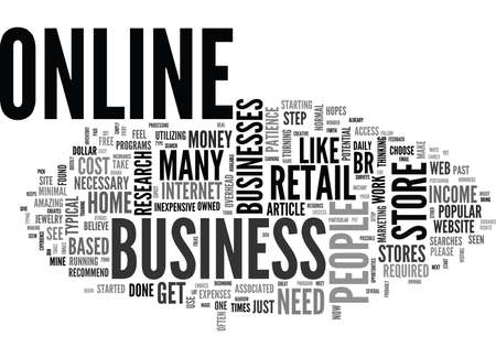 br: WEB BASED RETAIL STORE TEXT WORD CLOUD CONCEPT Illustration
