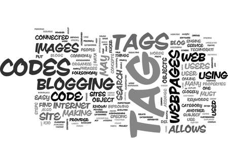 WEB CODES FOR BLOGS TEXT WORD CLOUD CONCEPT Illustration