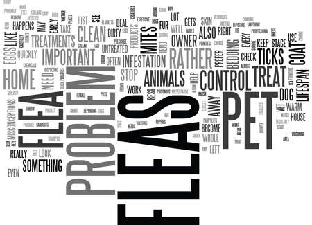 YIKES I SAW A FLEA ON MY DOG TEXT WORD CLOUD CONCEPT Illustration