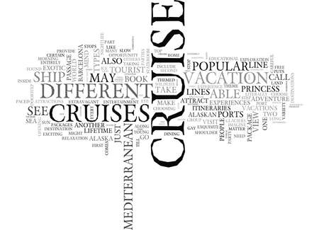 YIPPEE I SAID YES TO A CRUISE NOW WHERE SHOULD I GO AND WHY TEXT WORD CLOUD CONCEPT Stock Vector - 79581452