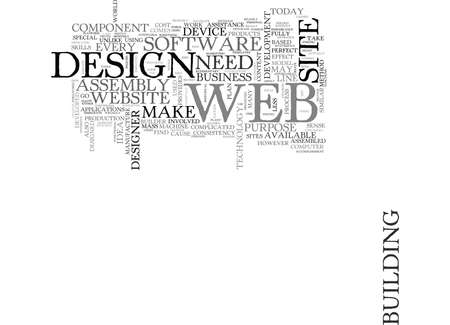 WEB DESIGN AND THE ASSEMBLY PLANT TEXT WORD CLOUD CONCEPT