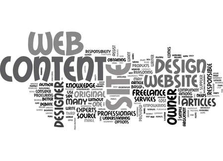 WEB DESIGN CONTENT PROCUREMENT TEXT WORD CLOUD CONCEPT