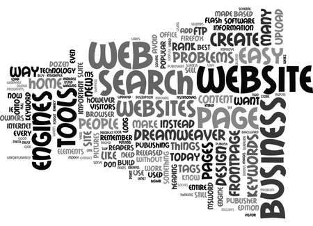 WEB DESIGN FOR THE HOME BASED BUSINESS TEXT WORD CLOUD CONCEPT Illustration