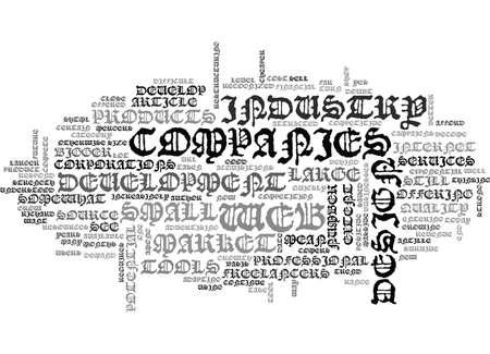 WEB DESIGN INDUSTRY FUTURE TEXT WORD CLOUD CONCEPT Illustration