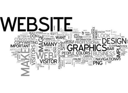 WEB DESIGN KEEP IT SIMPLE TEXT WORD CLOUD CONCEPT