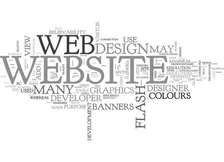 WEB DESIGN MYTHS TEXT WORD CLOUD CONCEPT