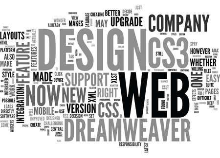 WEB DESIGN SERIES DREAMWEAVER AND CS WHAT S THE DIFFERENCE TEXT WORD CLOUD CONCEPT