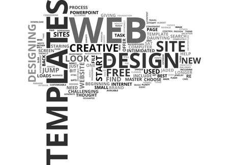 WEB デザイン テンプレートをジャンプ開始創造本文の単語雲概念