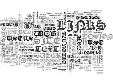 WEB DESIGN THE BIGGEST MISTAKES TEXT WORD CLOUD CONCEPT Иллюстрация