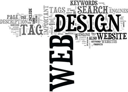 outset: WEB DESIGN WITH A DIFFERENCE TEXT WORD CLOUD CONCEPT