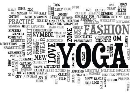sanskrit: YOGA FOR MODERN CITY LIFE YOGA IS NOW A LIFESTYLE TEXT WORD CLOUD CONCEPT