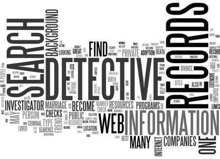 WEB DETECTIVE TEXT WORD CLOUD CONCEPT
