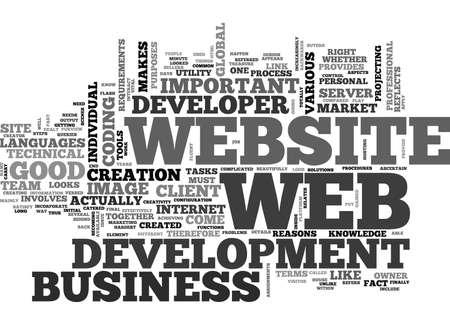 WEB 開発の最も困難な一部テキスト単語雲の概念