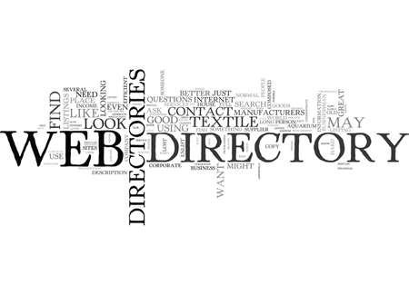 WEB ディレクトリのテキスト単語雲の概念  イラスト・ベクター素材