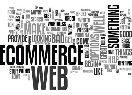 potentially: WEB ECOMMERCE WHERE TO BEGIN TEXT WORD CLOUD CONCEPT Illustration