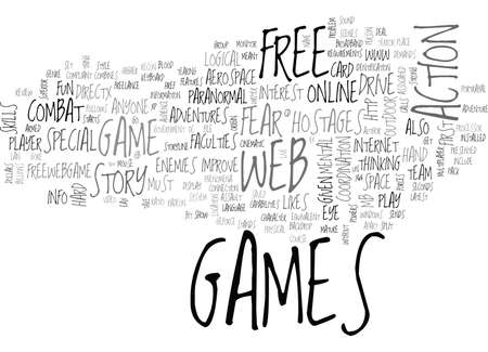 WEB GAMES REVIEW FEAR PC GAME TEXT WORD CLOUD CONCEPT