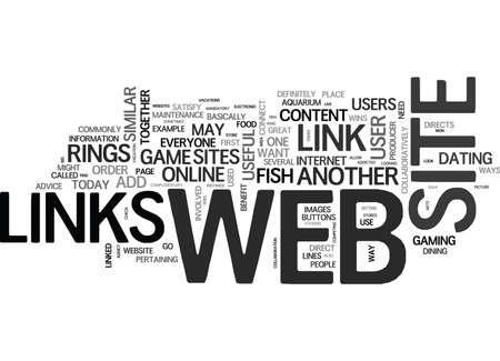 WEB LINKS TEXT WORD CLOUD CONCEPT