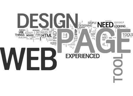 WEB PAGE DESIGN TOOL TEXT WORD CLOUD CONCEPT Ilustrace