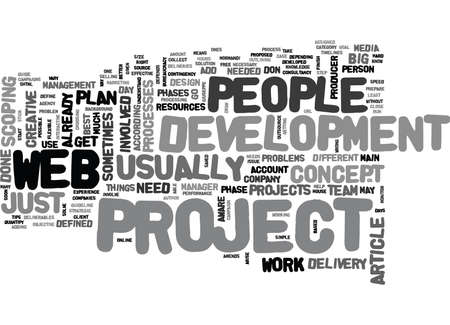 according: WEB PROJECT TIPS TEXT WORD CLOUD CONCEPT