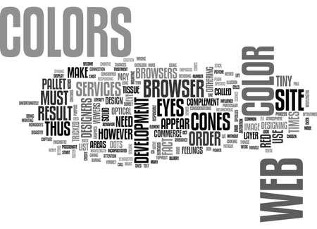 웹 사이트 디자인 색상 당신의 텍스트 단어 개념