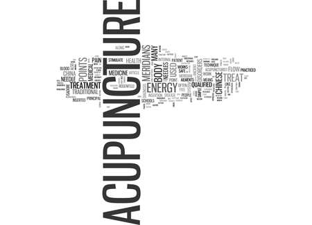 WHAT DISORDERS CAN ACUPUNCTURE TREAT AND HOW DOES IT WORK TEXT WORD CLOUD CONCEPT