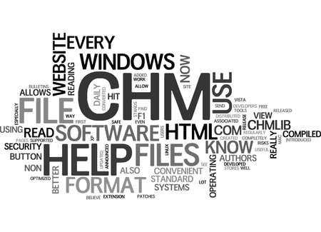 WHAT IS CHM FILE TEXT WORD CLOUD CONCEPT